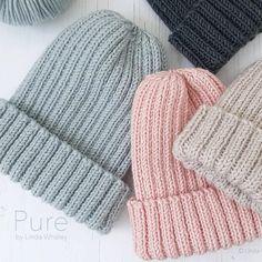 Beanie Knitting Patterns Free, Knit Beanie Pattern, Baby Hats Knitting, Loom Knitting, Knit Patterns, Free Knitting, Knitted Hats, Crochet Hats, Simple Knitting