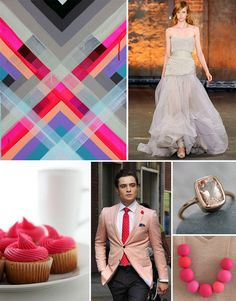 Inspiration Board #40: Hot Pink + Gray
