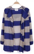 To find out about the Blue Grey Striped Hooded Long Sleeve Cardigan at SHEIN, part of our latest Sweaters ready to shop online today! Pink Blue, Blue Grey, Skirt Pants, Grey Stripes, Hoods, Chic, Long Sleeve, Skirts, Summer