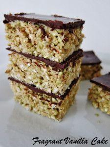 Raw Peanut Butter Buckwheat Crispy Bars from Fragrant Vanilla Cake