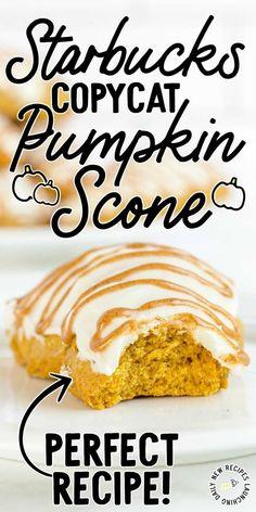 Starbucks Copycat Pumpkin Scones Pumkin Scones, Pumpkin Scones Starbucks, Brunch Items, Breakfast Items, Baking Recipes, Dessert Recipes, Cookie Recipes, Best Breakfast Recipes, Vegan Breakfast