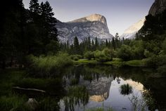 Yosemite National Park provides guided mule and horseback rides that highlight all of the wonders of Yosemite, including Mirror Lake (pictured), Ver Top 10 National Parks, California National Parks, Yosemite National Park, Mist Trail, Lake Pictures, Mirror Lake, Yosemite Falls, California Camping, Camping Places