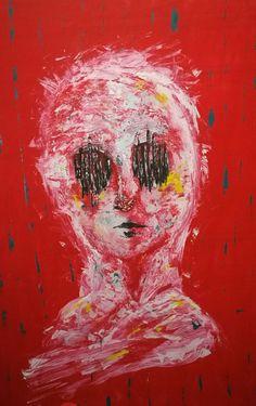#art #eyes #red #spatola #leggerezza #movimento #modernart