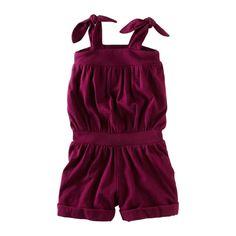 "Tea Collection Purple Romper; Follow us on Facebook ""Cravings Kids Lifestyle Boutique"""