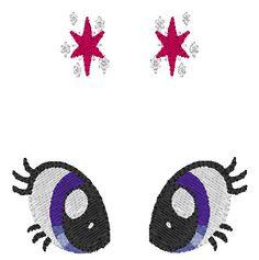 My Little Pony Twilight Sparkle Eyes and Cutie Mark by geekigurumi, $3.00