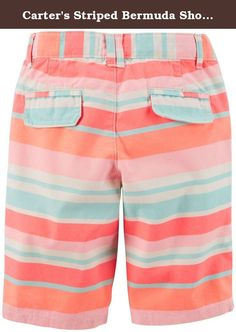 Carter's Striped Bermuda Shorts (Toddler/Kid) - Pink/Orange-4T. Carter's Striped Bermuda Shorts (Toddler/Kid) - Pink/Orange Carter's is the leading brand of children's clothing, gifts and accessories in America, selling more than 10 products for every child born in the U.S. Their designs are based on a heritage of quality and innovation that has earned them the trust of generations of families.