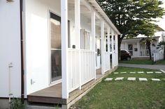 玄関代わりのウッドデッキ【自由な賃貸】狭山入曽の新しい米軍ハウス