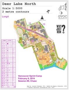Orienteering event taking place: February 2014 - February 2014 Orienteering is an exciting sport for all ages and fitness levels that involves reading a detailed map and using a compass to find checkpoints. Vancouver, Session 9, February 9, Just Run, Camping, Short, Maps, Campsite, Cards