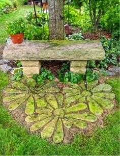 Flower Stepping Stones