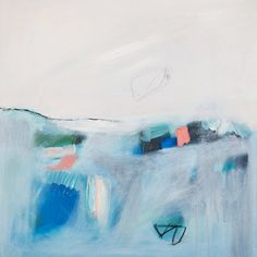 ABSTRACT painting, Giclee, Fine Art Print, white painting, blue painting, modern painting,