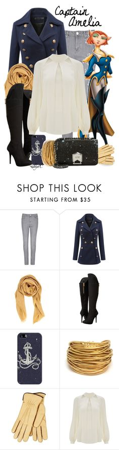 """""""Captain Amelia - Winter - Disney's Treasure Planet"""" by rubytyra ❤ liked on Polyvore featuring Per Una, WithChic, Chan Luu, GUESS, Casetify, Black & Sigi, Restelli, Temperley London, Aimee Kestenberg and Winter"""
