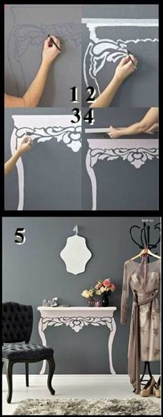 Save space while adding more room for storage! #closet #table #clever #girly #fashion #clothes