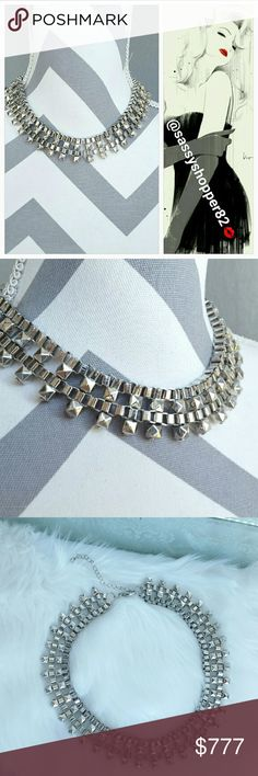💋LAST 1💋Classy silver collar necklace NWOT Brand new no tags  Sophisticated and classy silver metal collar necklace. Pair with any outfit for a classy look. Dainty necklace Clasp in back, Dainty  Extra chain extention. Silver toned metal  💖Shop with confidence💖💖 🎉🎊Suggested User🎊🎉 📮💌Same day shipping📮💌 5🌟🌟🌟🌟🌟star rated closet 👍👍Top seller👍👍 SASSY Jewelry Necklaces