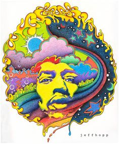 Jimi Hendrix _ psychedelic by -Miss*G- a.k.a. -*Glau-, via Flickr
