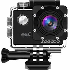 WiFi Action Sport Camera Waterproof Cam,SOOCOO Video Camera 2 inches LCD 170 Degree Wide Angle Underwater Camcorder 2 Batteries 18 Accessories Kit SD Card Not Included Black Action Cam, Diving Camera, Wifi, Sport Running, Go Pro, Batterie Rechargeable, Full Hd 1080p, Waterproof Camera, Couple Photography