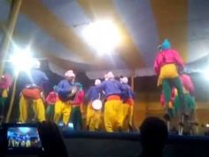 A group of people performing ranpa dance on stage at poush mela compound at santiniketan. Ranapa Dance is a traditional Odiya Dance which is prevalent in the cow-herd communities