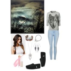 Wolf inspired by aero1blue on Polyvore featuring polyvore fashion style Topshop Skechers Gucci Bling Jewelry With Love From CA Stila