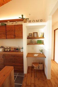 62 Ideas Home Office Nook Tiny House Tiny Home Office, Small Home Offices, Home Office Design, House Design, Home Bar Counter, Home Design Living Room, Office Nook, Trendy Home, Bars For Home