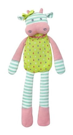 Apple Park Organic Farm Buddies Plush Toy, Belle The Cow, 2015 Amazon Top Rated Plush Puppets #BabyProduct