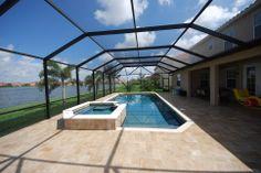 pool screen enclosure Pool Screen Enclosure, Screen Enclosures, Hot Tubs, Pool Ideas, Swimming Pools, Landscaping, Coastal, Deck, Indoor