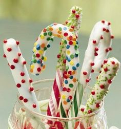 Candy Cane Wands
