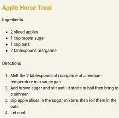 Apple horse treats Homemade Horse Treats, Horse Braiding, Brown Cups, Horse Feed, Horse Names, Horse Tips, Black Horses, Horse Trailers, Rustic Bathrooms