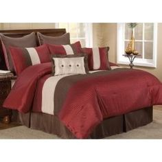 Red And Brown Bedding Is A Sleek Modern Look For Your Bedroom Decor There Are