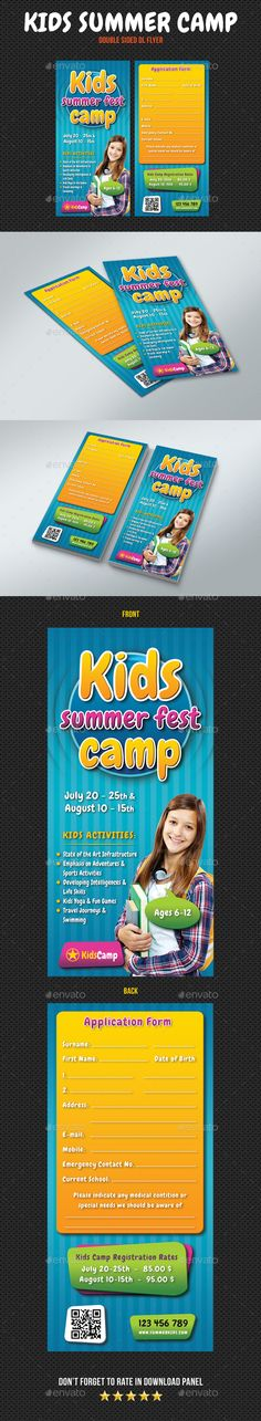 Summer Camp Flyer  Flyer Template Ai Illustrator And Event Flyer