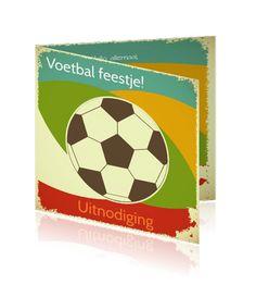 Kinderfeestje voetbal. Voetbalkaarten kopen en maken.