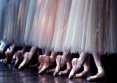 Répétition de Gisèle par les danseuses du Royal Ballet à Covent Garden, Londres, le 9 janvier 2004