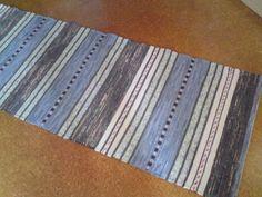 Gudruns stugmatta, upplock Rag Rugs, Recycled Fabric, Woven Rug, Weave, Hand Weaving, Recycling, Textiles, Traditional, Inspiration