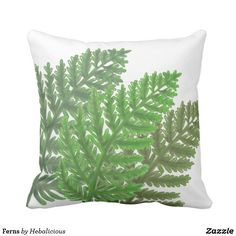 Green Ferns Throw Pillow  https://www.zazzle.com/z/yo2dn?rf=238263673025503600
