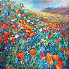 Wild Flowers- by Helen Blair http://shop.helenblairsart.co.nz/