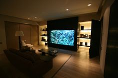 Awesome 1400 Gallon Saltwater Aquarium in a nice modern luxuary house interior!
