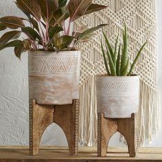 SERRV Mini Macrame Plant Hanger Indoor Outdoor Decorative Hanging Planter Flower Pot Holder