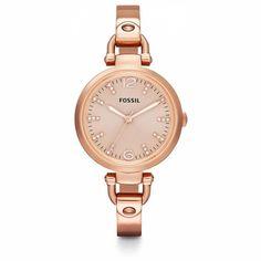 Fossil Georgia Glitz Rose Gold-Tone Ladies Watch ES3367