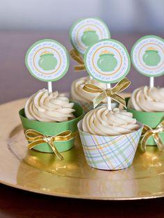 Bailey's Irish Cream Cupcakes... another great St. Patrick's Day idea!