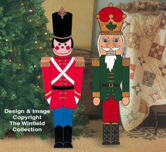 small toy soldier and nutcracker wood pattern outside christmas decorations christmas yard art nutcracker