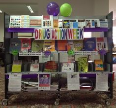 Drug Action Week display at Finley Library - Berrigan Shire Libraries