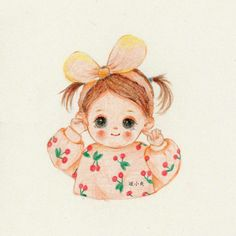 Flower Background Wallpaper, Cute Girl Wallpaper, Cartoon Art, Cute Cartoon, Sweet Drawings, Cute Sketches, Cute Love Cartoons, Baby Clip Art, Illustration Art Drawing