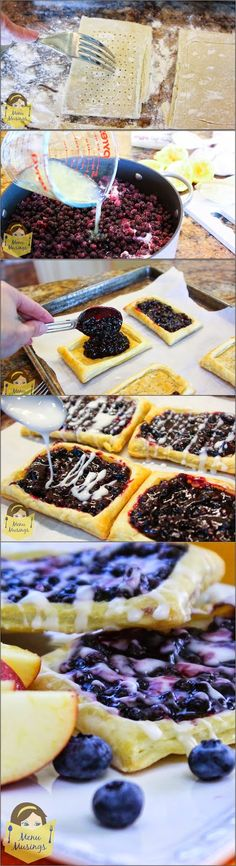 Wild Blueberry Breakfast Strudels - Step-by-step photo tutorial. Make someone's day! ♥