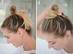 If you want a messy bun look that feels a little ~sturdier~, wrap your hair…