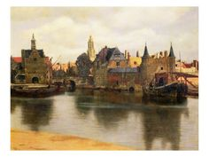 View of Delft, c.1660-61    ....by Jan Vermeer