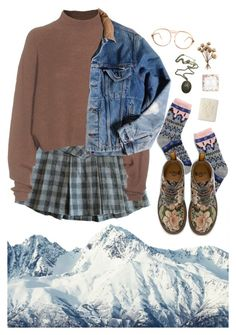 """""""stay alive"""" by paper-freckles ❤ liked on Polyvore featuring Madewell, Acne Studios, Carhartt, Dr. Martens and American Apparel"""