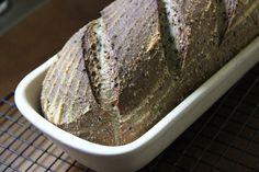 Semolina+Sesame+Spelt+Sourdough bread in a stone baker