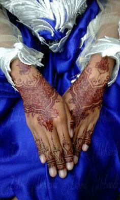 Maroon henna wedding