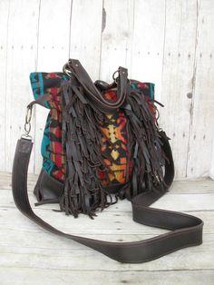 14x Bags. Etsy listing at https://www.etsy.com/listing/115124696/brown-leather-bag-fringe-bag-tote