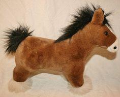 Plush Stuffed Animal Horse Pony 11 inches tall 1995 Kam International Inc #KamInternationalInc
