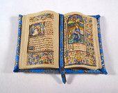Miniature Medieval Gold Illuminated Open Book