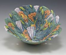 ccpottery ( Chris Campbell.)  floral bowl.